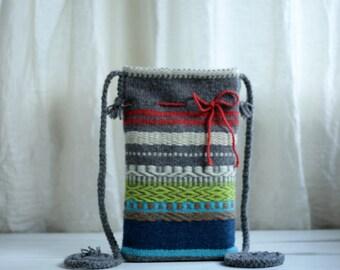 Color Mix Hand-woven Bag  - Crossbody Woman Bag - Handmade purse - Hippie Bag - Spring Were - Colorful Big Bag - Valentine Gift Idea