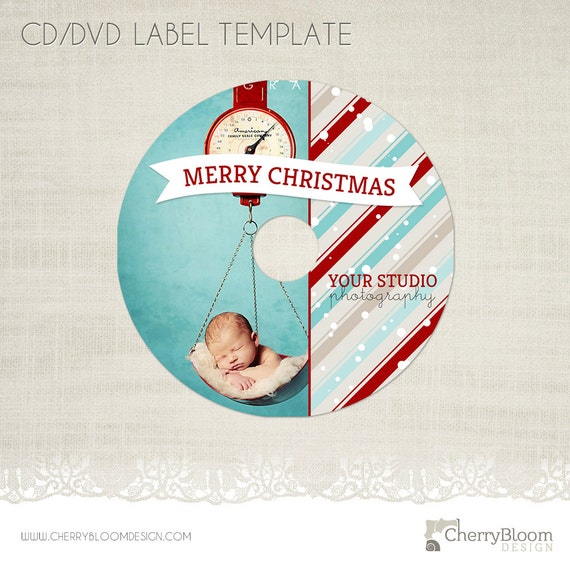 christmas cd dvd label photography cd label template cd06. Black Bedroom Furniture Sets. Home Design Ideas