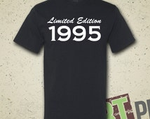 1995 Limited Edition 19th Birthday T-Shirt - 1995 - Turning 19 - 19 Years Old - Birthday Party - Tee - Shirt - Gift - Present - Birthday