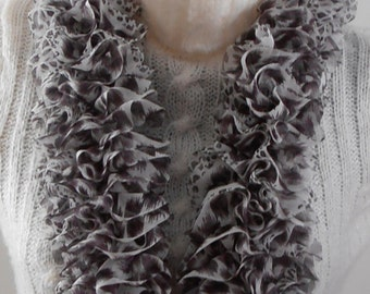 Hand Knit Ruffle Scarf - Land of Misfit Toys Collection - Ruffle Scarf - Animals