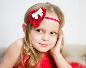 Red Heart Headband, Valentine's Day Headband, Heart Headband, Love Headband, Newborn Photo Prop, Baby Shower Gift, Teen Headband, Adult