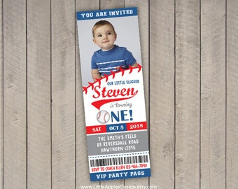 baseball invitation / birthday baseball invitation / printable baseball invite/ baseball invitation ticket / 1st birthday baseball invite