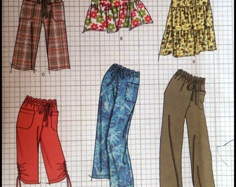 Simplicity 2414  Misses' Pants in Two Lengths Or Shorts And Skirt in Two Lengths Size (16-24)  UNCUT