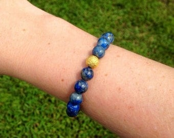 The Dora Bracelet - Lapis Lazuli (Perfect for Stacking and Layering)