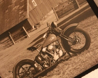 16x20 inch poster of a beautiful 1936 Harley-Davidson Knucklehead