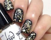 Golden Star Gold Glitter Holographic Iridescent Glitter Nail Polish Winter Christmas
