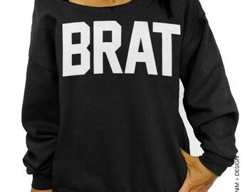 Brat - Black Slouchy Oversized Sweatshirt