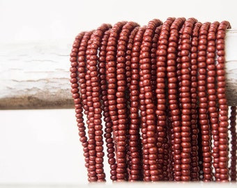 Brown Opaque color Seed Beads (5 strands)