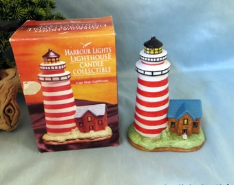 Harbour lights Cape Hope Lighthouse candle holder_beach housewares_vintage collectible lighthouse_nautical decor