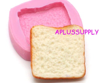 GYL083 Bread Slice Silicone Flexible Mold Decoden Kawaii Miniature Mold Sweets Fimo Polymer Clay Mini Food Jewelry Cabochon Charms Wax