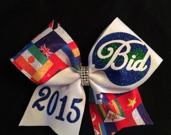 2018 World Flag Cheer Bow