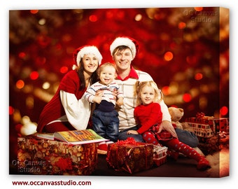 Christmas Gift. Your Photos printed to Canvas. Cotton canvas print. All size photos to canvas. Framed portrait print.