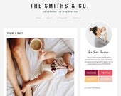 Wordpress Theme - Responsive Modern Mommy Blog Design- The Smiths & Co.