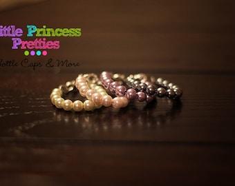 Newborn Pearl Bracelet, Baby Bracelet, Infant Bracelet, Pearl Bracelet, Newborn Bracelet, Newborn Jewelry, Photo Prop, Pink, Grey, Lavender