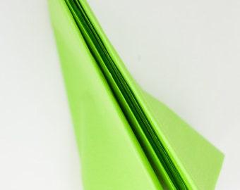 Lime Green Tissue Paper | Bulk Tissue Paper 24 Sheets Green | Neon Green Tissue Paper |Bright Green Tissue Paper Sheets | Neon Tissue Paper