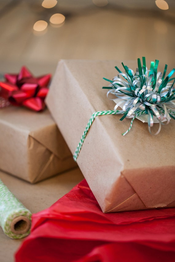 brown kraft paper 30 feet christmas gift wrap personalized