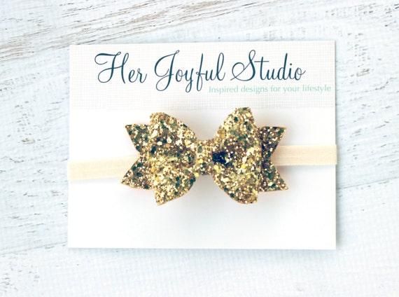 Glitter Fabric Bow