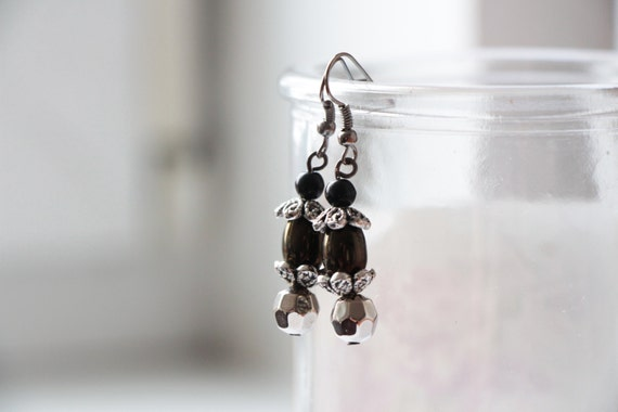 Items similar to minimalist everyday small earrings for Minimal art jewelry
