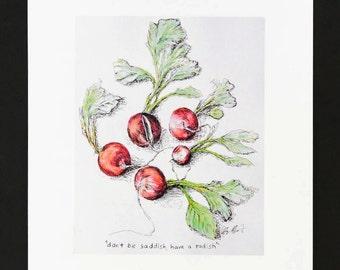 Don't be saddish, have a radish - Digtail Print