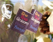 The Last Unicorn Book Earrings