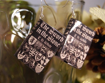 The Sword in The Stone Book Earrings