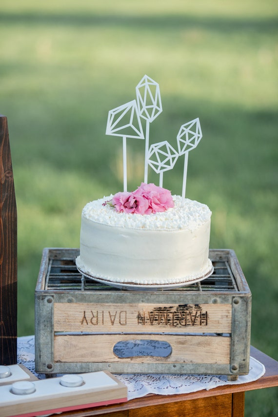 Geometric Cake Toppers