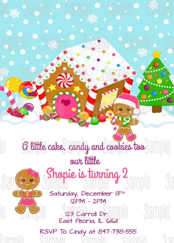 Printable gingerbread birthday party invitation plus free blank il570xn filmwisefo Images