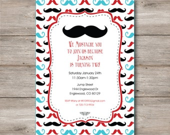 mustache invitation with editable text mustache party invitation with changeable text mustache birthday invitation - Mustache Party Invitations
