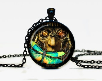Steampunk pendant Steampunk necklace  Steampunk jewelry