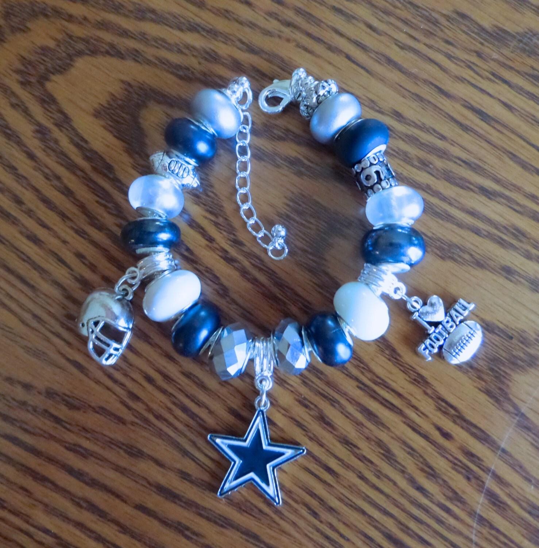 dallas cowboys european charm bracelet tony romo nfl
