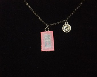 The Art of War Book Necklace