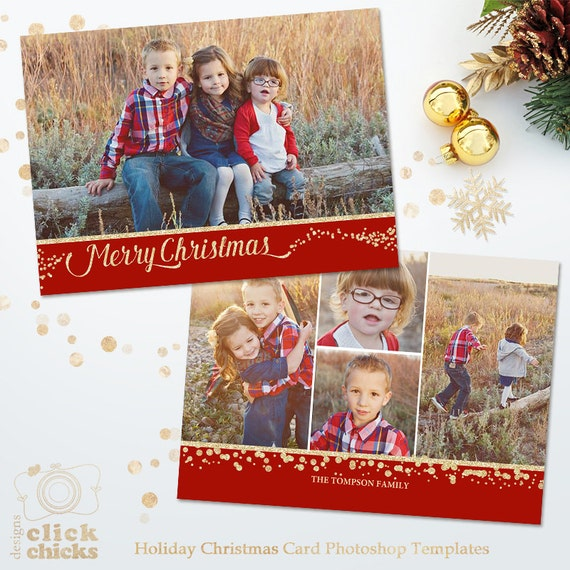Items similar to holiday card template for photographers for Free christmas card templates for photographers