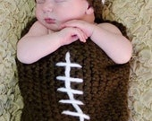 Football cocoon and matching hat