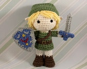Link Amigurumi Doll Plush from Legend of Zelda (Crochet Pattern Only, Digital Download), Hero of Time, Gamer Gifts, Video Game Gift