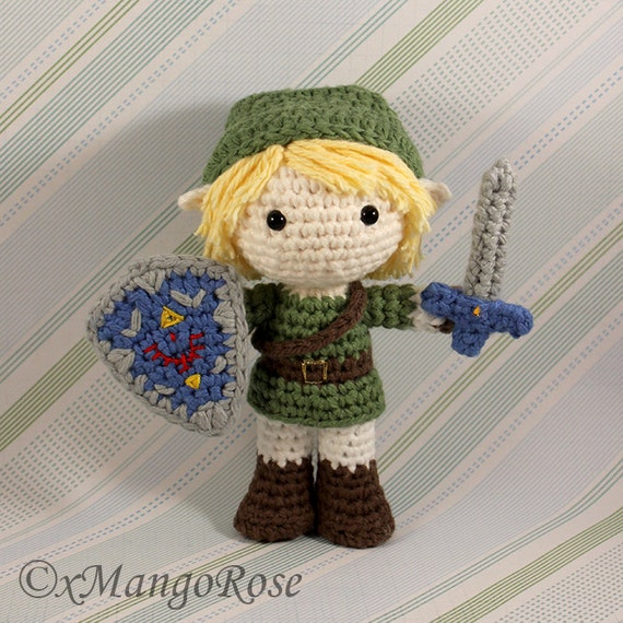 Crochet Zelda Patterns : Link Amigurumi Doll Plush from Legend of Zelda (Crochet Pattern Only ...