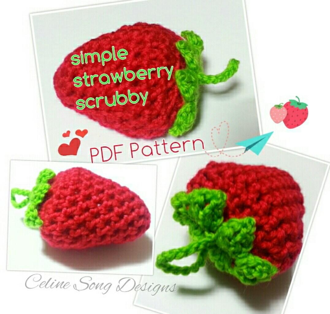 Strawberry scrubbies crochet pattern diy pdf simple zoom bankloansurffo Gallery