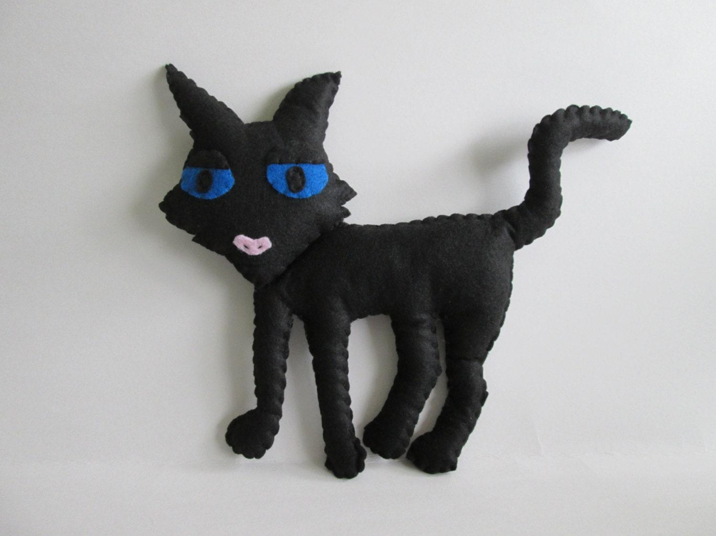 Coraline's Cat Plush Inspired by Coraline Movie Black Cat