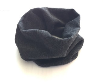 gray charcoal wool cowl