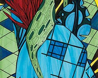 "Fine Art By Miami Artist Holly A. Jones | ""Paraiso"" Limited Edition Reproduction Giclée Print on Canvas"