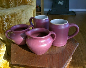 Matte Rose Hand Thrown Zanesville Pottery