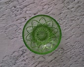 Hazel Atlas Small Green Glass Berry Nappy Bowl Dish