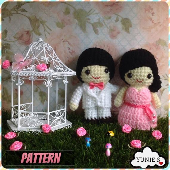 Crochet Pattern Doll : Wedding amigurumi Gaily Wedding Doll