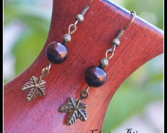 Antique bronze Earrings 11x46mm