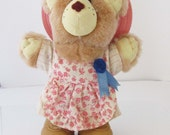 Furskins Hattie Bear Mini Bear Doll Wendys 1986 - 7.5 Inches