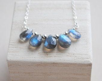 Labradorite Necklace, Labradorite Jewelry