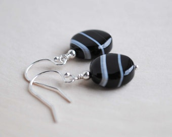 Sardonyx Earrings, Sardonyx Bead Earrings, Sardonyx Jewelry
