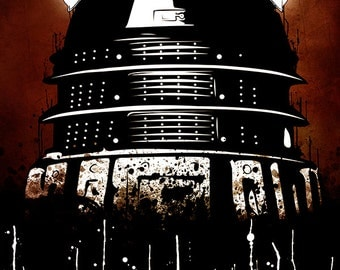 Dalek - Doctor Who Inspired Grunge-styled Art Poster Print