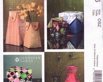 UNCUT Fabric Boxes and Vases McCall's Crafts Sewing Pattern M5065 - Jennifer Lokey
