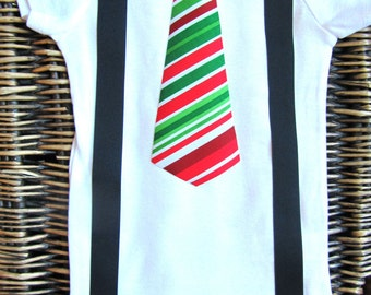 Baby Boy Clothes - Baby Boys Christmas Outfit - Baby Tie Suspenders Outfit - Christmas Photos -  Red Green  - First Christmas Outfit