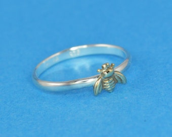 Bumble Bee Stacking Ring in Sterling Silver